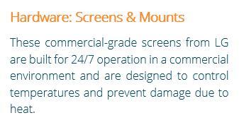 Digital Menu Board Hardware Screens & Mounts