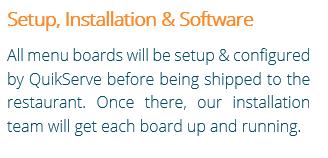 Digital Menu Board Setup Install & Software